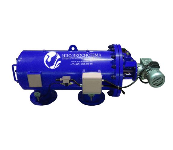 Самопромывной горизонтальный фильтр (очистка сетки - щетка)